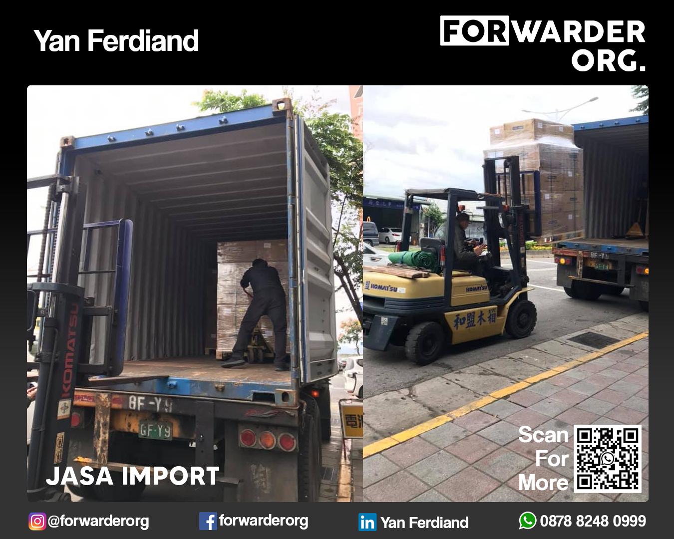 Jasa Import Mesin dan Sparepartnya FCL dan LCL | FORWARDER ORG