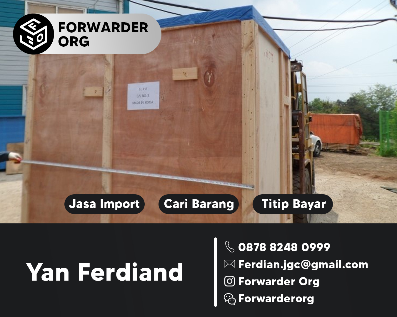 Jasa Import Door to Door China Minimum 0.3 CBM | FORWARDER ORG