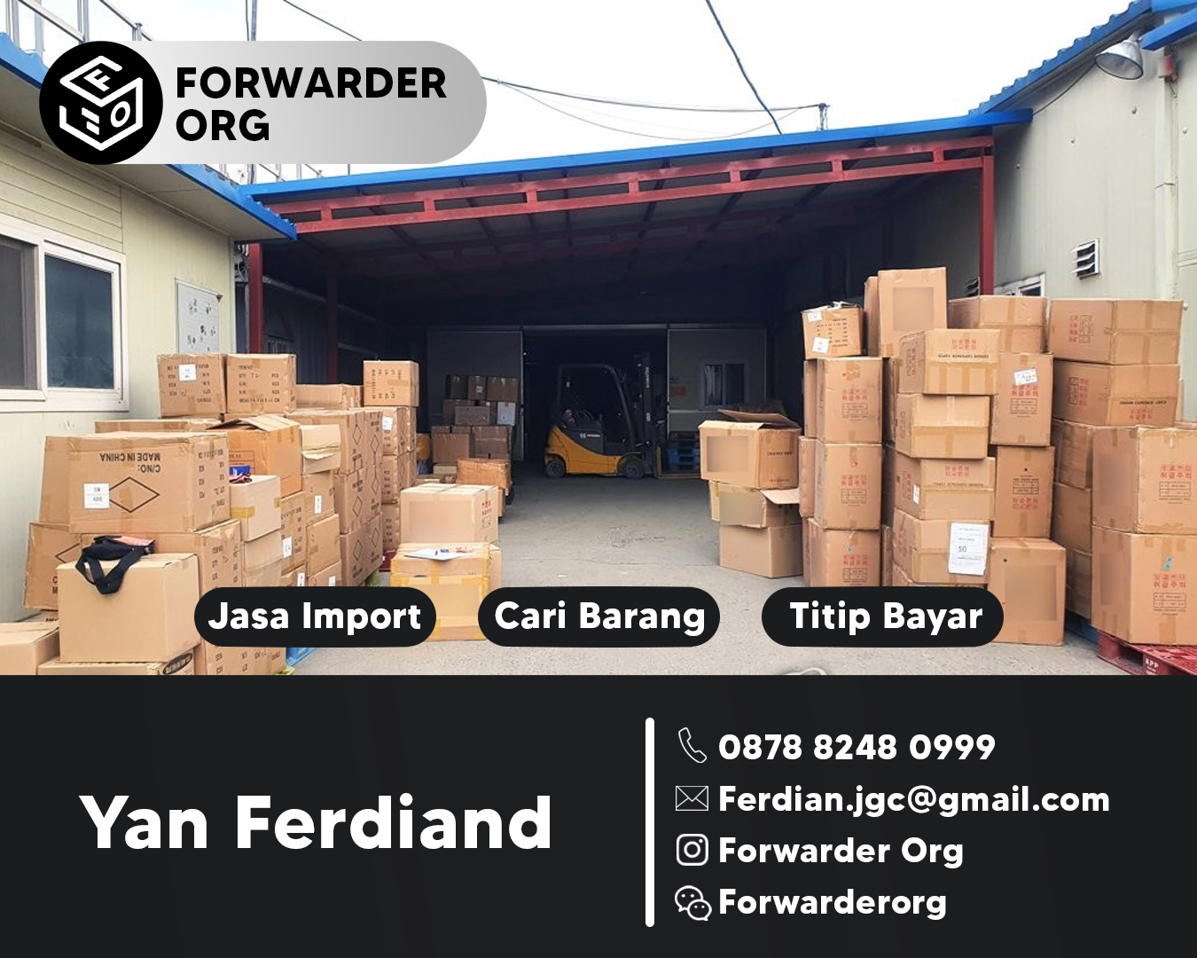 Jasa Import dari China dan Korea Minimum 10kgs | FORWARDER ORG