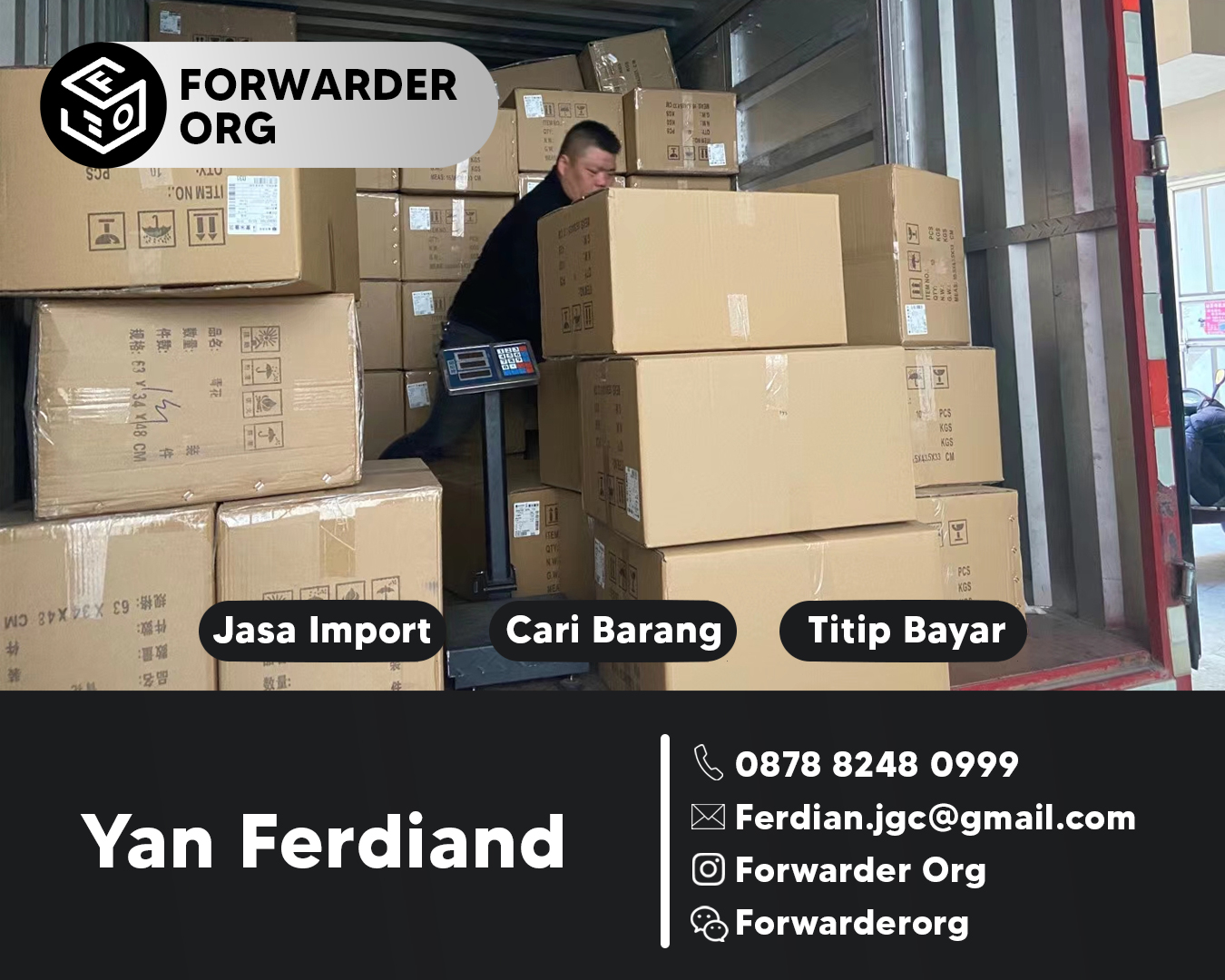 Jasa Import dan Pembelian Dari China Free Admin | FORWARDER ORG