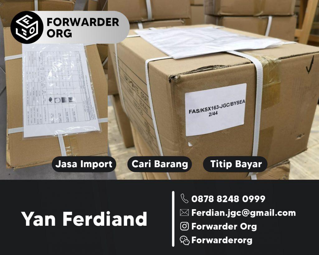 Jasa Import Barang Door to Door China Indonesia | FORWARDER ORG